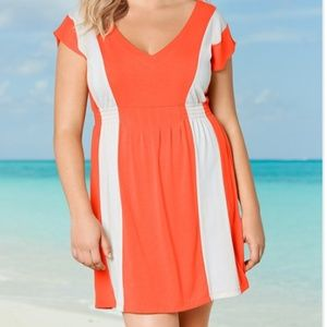 Other - Beach Cover-Up Orange and White 1X